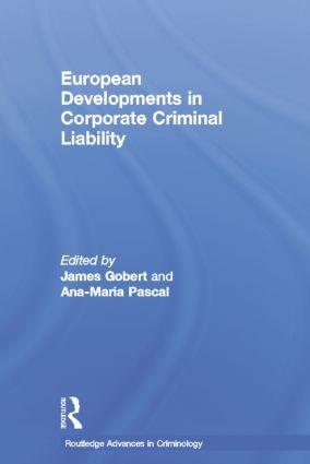 European Developments in Corporate Criminal Liability book cover