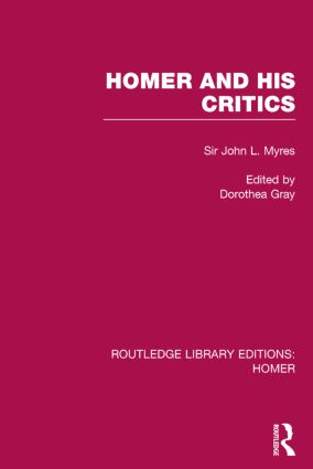 Homer and His Critics book cover