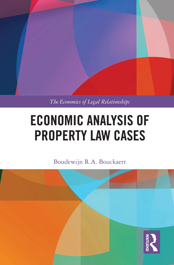 Economic Analysis of Property Law Cases book cover