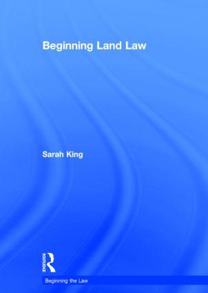 Beginning Land Law: 1st Edition (Hardback) book cover