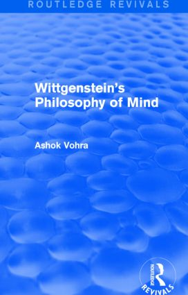 Wittgenstein's Philosophy of Mind (Routledge Revivals)