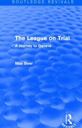 The League on Trial (Routledge Revivals)
