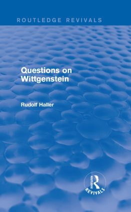 Questions on Wittgenstein (Routledge Revivals) (Hardback) book cover