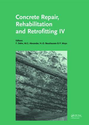 Concrete Repair, Rehabilitation and Retrofitting IV: Proceedings of the 4th International Conference on Concrete Repair, Rehabilitation and Retrofitting (ICCRRR-4), 5-7 October 2015, Leipzig, Germany, 1st Edition (Hardback) book cover