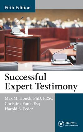 Successful Expert Testimony, Fifth Edition book cover