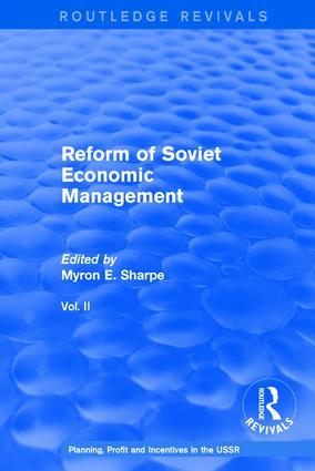 Reform of Soviet Economic Management: 1st Edition (Hardback) book cover