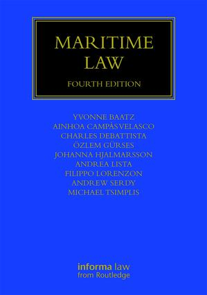 Maritime Law: 4th Edition (Hardback) book cover