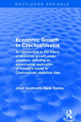 Economic growth in czechoslovakia book cover