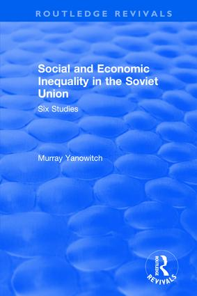 Social and Economic Inequality in the Soviet Union book cover