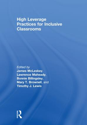High Leverage Practices for Inclusive Classrooms: 1st Edition (Hardback) book cover