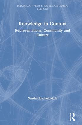 Knowledge in Context: Representations, Community and Culture book cover