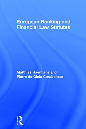 European Banking and Financial Law Statutes book cover