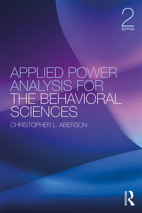 Applied Power Analysis for the Behavioral Sciences: 2nd Edition book cover
