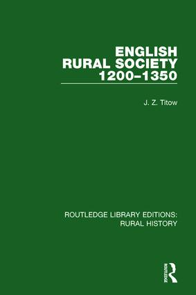 English Rural Society, 1200-1350 book cover