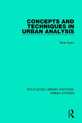Concepts and Techniques in Urban Analysis book cover