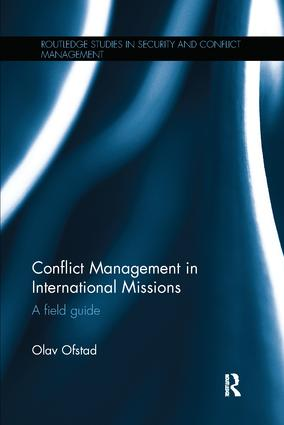 Conflict Management in International Missions: A field guide, 1st Edition (Paperback) book cover
