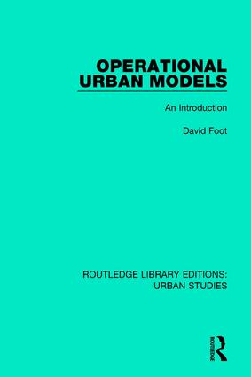 Operational Urban Models: An Introduction, 1st Edition (Paperback) book cover