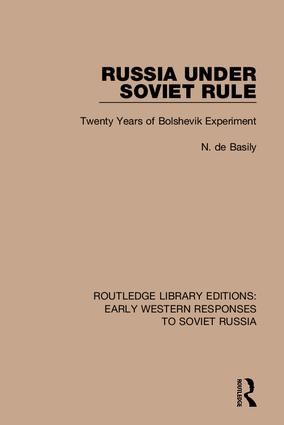 Routledge Library Editions: Early Western Responses to Soviet Russia: 1st Edition (Hardback) book cover