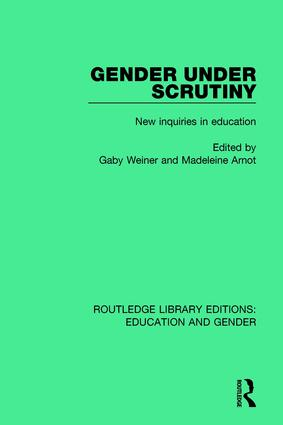 Gender Under Scrutiny: New Inquiries in Education book cover