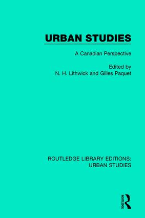 Urban Studies: A Canadian Perspective book cover