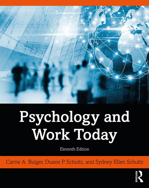 Psychology and Work Today: 11th Edition (Hardback) book cover