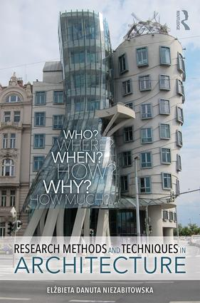 Research Methods and Techniques in Architecture: 1st Edition (Paperback) book cover