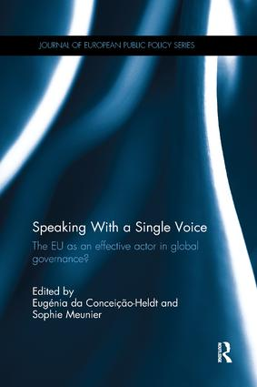 Speaking With a Single Voice: The EU as an effective actor in global governance? book cover