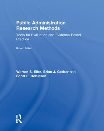 Public Administration Research Methods: Tools for Evaluation and Evidence-Based Practice, 2nd Edition (Hardback) book cover