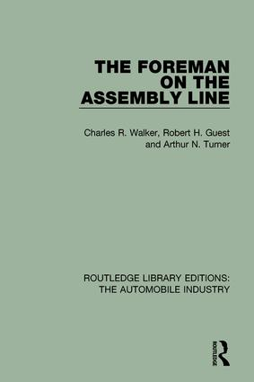 The Foreman on the Assembly Line: 1st Edition (Hardback) book cover