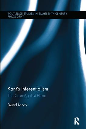 Kant's Inferentialism: The Case Against Hume book cover