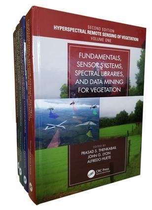 Hyperspectral Remote Sensing of Vegetation, Second Edition, Four Volume Set book cover