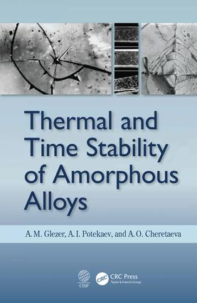 Thermal and Time Stability of Amorphous Alloys: 1st Edition (Hardback) book cover