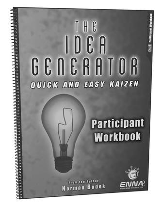 Quick and Easy Kaizen Participant Workbook: 1st Edition (Paperback) book cover