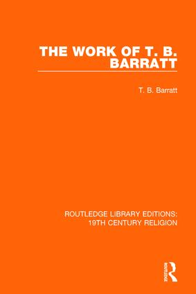 The Work of T. B. Barratt book cover