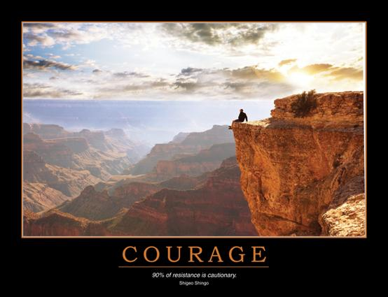 Courage Poster: 1st Edition (Poster) book cover