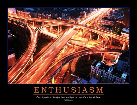 Enthusiasm Poster: 1st Edition (Poster) book cover