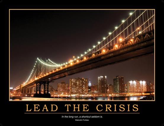 Lead the Crisis Poster: 1st Edition (Poster) book cover