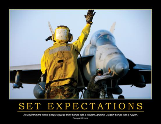 Set Expectations Poster: 1st Edition (Poster) book cover