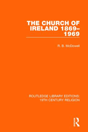 The Church of Ireland 1869-1969 book cover