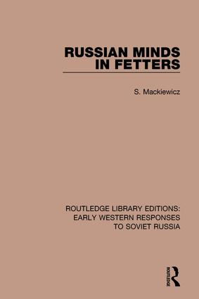 Russian Minds in Fetters: 1st Edition (Hardback) book cover