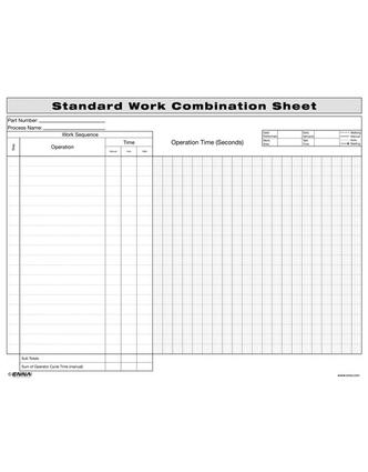 Standard Work Combination Sheet: 1st Edition (Loose-leaf) book cover