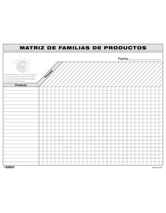 VSM Product Family Matrix (Spanish): 1st Edition (Loose-leaf) book cover