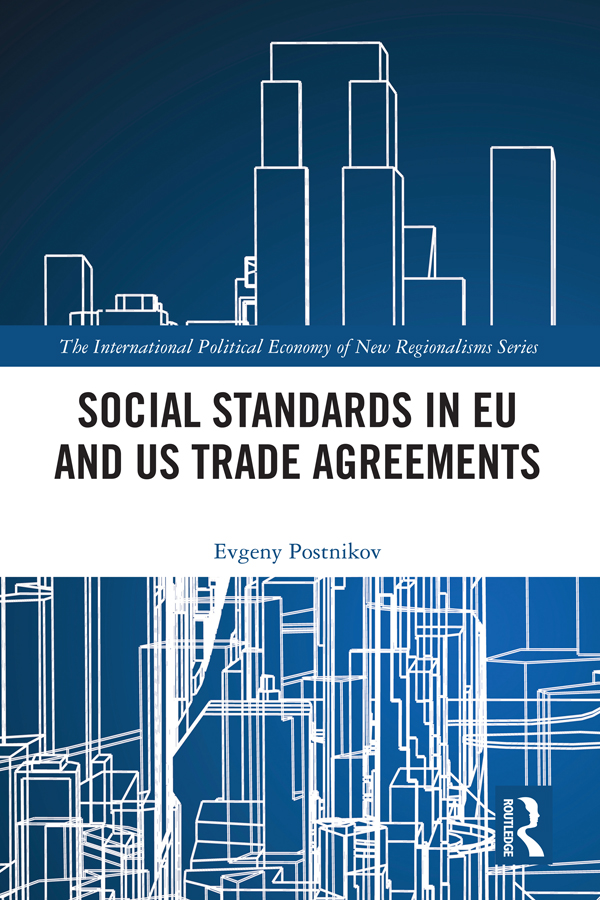 Social Standards in EU and US Trade Agreements book cover