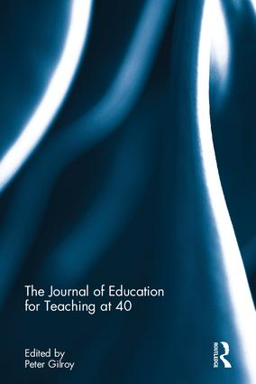 The Journal of Education for Teaching at 40 book cover