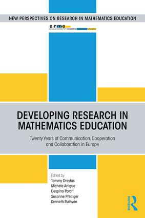 Developing Research in Mathematics Education: Twenty Years of Communication, Cooperation and Collaboration in Europe, 1st Edition (Paperback) book cover