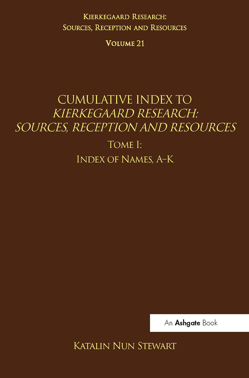Volume 21, Tome I: Cumulative Index: Index of Names, A-K (Hardback) book cover