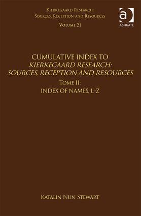 Volume 21, Tome II: Cumulative Index: Index of Names, L-Z (Hardback) book cover