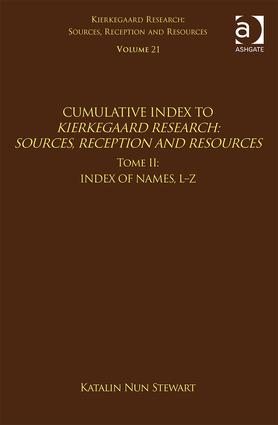 Volume 21, Tome II: Cumulative Index: Index of Names, L-Z, 1st Edition (Hardback) book cover