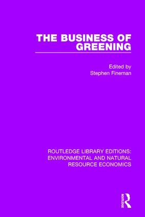 The Business of Greening book cover