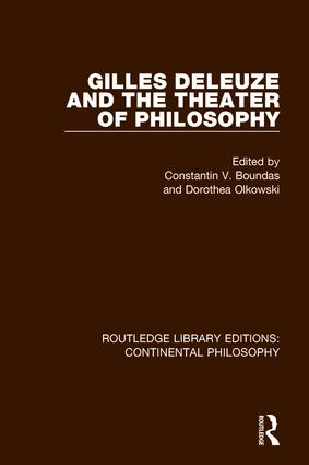 Gilles Deleuze and the Theater of Philosophy book cover